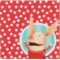 Olivia Pig Party Napkins  (16)