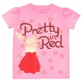 "Olivia Pig Tshirt ""Pretty in Red"" - various sizing - Pre Order"