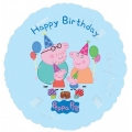 "Peppa Pig Party Happy Birthday"" family Foil Balloon"