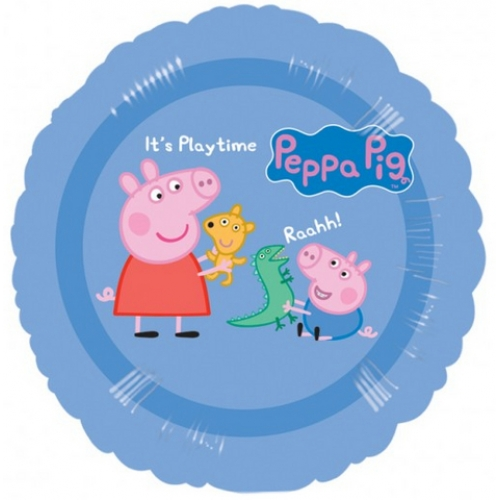 Peppa pig peppa george foil balloon 45cm bubbles and for Missile peppa pig