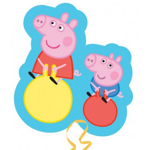 Peppa pig peppa george bouncing super foil balloon for Missile peppa pig