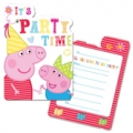Peppa Pig Party Invites  (6) - New red
