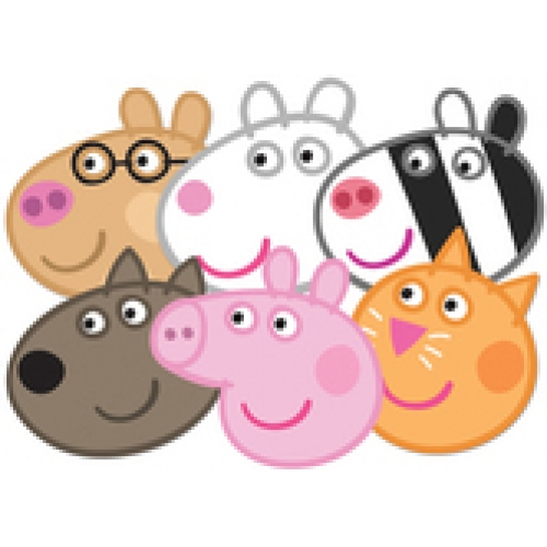 Peppa pig masks 6 pack they 39 re back woohoo bubbles for Missile peppa pig