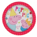 Peppa Pig Party Plates (8) - New Red