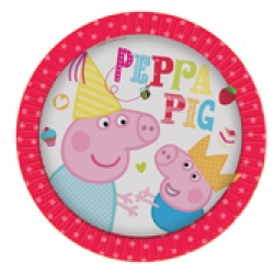 Peppa Pig Plates (8) - New Red