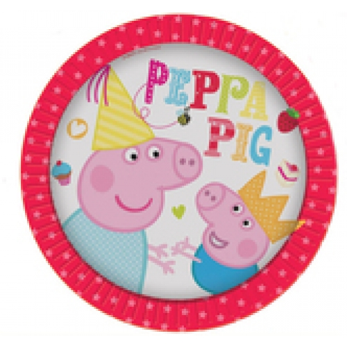 Peppa pig plates 8 new red peppa pig bubbles and for Missile peppa pig