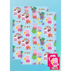 Peppa pig wrapping paper gift cards limited stock new for Missile peppa pig