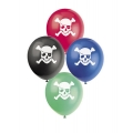 Pirate Party Latex Balloons 8 Pack (various colors)