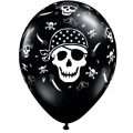 Pirate Party Skull, Crossbones & Swords Latex Balloons 6 Pack