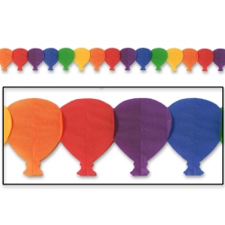 Rainbow Coloured Balloon Garland (1) 3.6m long