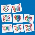 Rainbow Glitter Tattoos Pack of 8