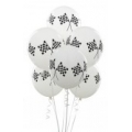 Racing Car Checkered Latex Balloons Pack 6