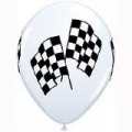 Racing Car Checkered Latex Balloons (1)