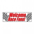 Racing Car Checkered Party Banner