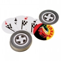 Racing Car Party Favor Wheel Playing Cards