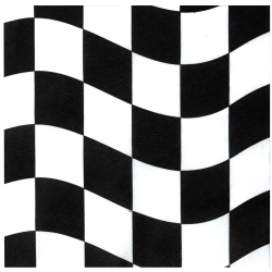 Racing Checkered  Napkin