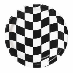 Racing Checkered Plates Dessert