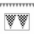 Racing Car Checkered Pennant Banner