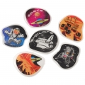 Space Mission Design Puffy Stickers ~ 6 pack