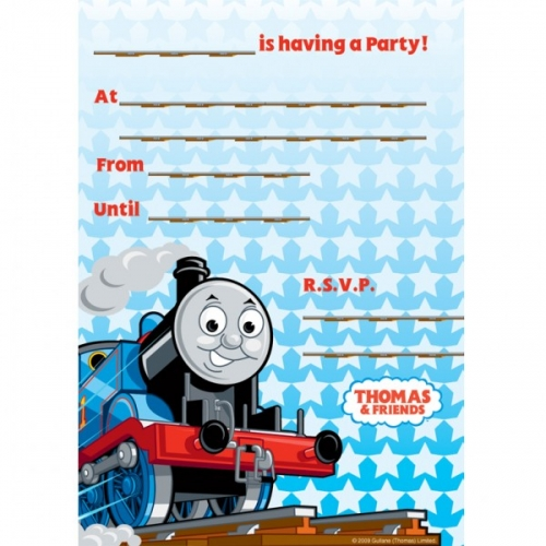 thomas the tank engine party invites huge 20 pack - bubbles and, Party invitations