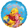 Winnie the Pooh with Honey Birthday Foil Balloon